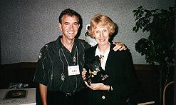 Meeting R John Wright at Gollyfest in July 2000.